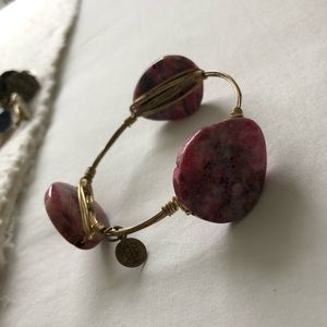 Bourbon and Bowtie Pink gemstone Bangle